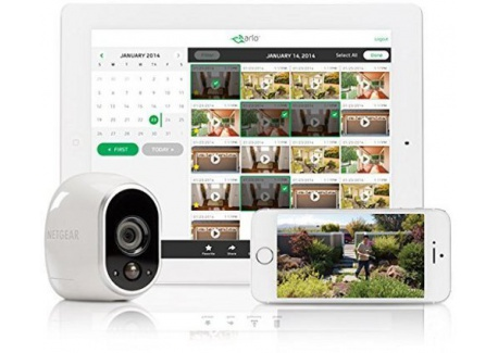 Arlo NETGEAR - Smart Caméra VMC3030-100EUS, Caméra HD 100% sans Fil Additionnelle, Vision Nocturne, Etanche Intérieure/Extérieur