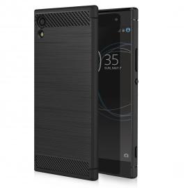 MoKo Sony Xperia XA1 Coque Étui - Housse de Protection en Prémium Fibre de Carbone Ultra-Léger, Caoutchouc TPU Souple Anti-Ch