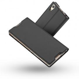 Coque Sony Xperia XA1, Ultra Mince en Cuir PU Premium Housse à Rabat Portefeuille Étui de Bumper Folio à Clapet pour So
