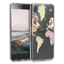 Coque Sony Xperia L3 - Coque pour Sony Xperia L3 - Housse de téléphone en Silicone Noir-Multicolore-Transparent