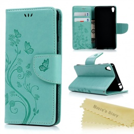 Maviss Diary Sony Xperia E5 Coque Étui Housse de Protection Étui à Rabat Cuir Portefeuille Clapet Flip Phone Case Cover Swag