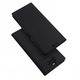 DUX DUCIS Coque Sony Xperia 10, Premium Étui de Protection [Stand Support] [Porte-Cartes de Crédit] [Fermeture Magnétique] TP
