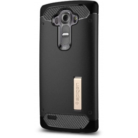 Spigen Coque LG G4, Ultimate Protection Contre Les Chutes et Les impacts, [Black] [Rugged Armor] Coque pour LG G4, G4 Coque,