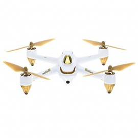 HUBSAN H501S X4 FPV Drone avec Caméra HD/Télécommande Blanc