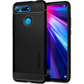 Spigen Coque Honor View 20 [Rugged Armor] Anti-Choc, Souple, Fibre de Carbone, Anti-Rauyrue, Air Cushion, Coque Etui Housse p