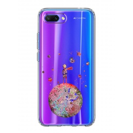 Alsoar Compatible pour Coque Huawei Honor 10 Étui Liquid Crystal Ultra Mince Transparent TPU Silicone Housse Protection Bumpe