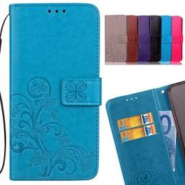 LEMORRY Etui pour Nokia 3.1 Etui Cuir Portefeuille Pochette Gaufrage Mince Housse Protecteur Magnétique Fente-Carte Soft Sili