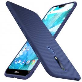 iBetter Coque Nokia 7.1, Ultra Mince Silicone Cas Solide, Durable, Anti-Chute, antidérapant Cas Souple TPU Cas Mobile Télépho