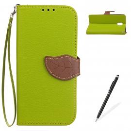 Nokia 3 Coque ,MAGQI PU Cuir Flip Wallet Étui [Retro Bicolore Design ] avec Stand Fonction Fente pour Carte Anti-Rayures 360°