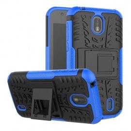 TenYll Coque Nokia 1, [avec Support] Silicone Hybride Robuste et Robuste Housse de Protection Antichoc Housse en Cuir avec Do
