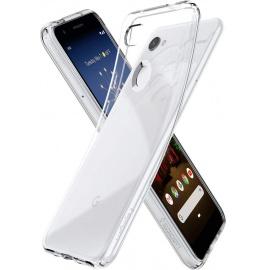 Spigen Coque Pixel 3a, Coque Google Pixel 3a [Liquid Crystal] Transparente, Souple, Silicone, Ultra Fine, sans Tâche, Anti-Ra