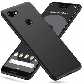 Peakally Coque Google Pixel 3 XL, Etui Souple Flexible en Premium TPU Noir Case Cover pour Google Pixel 3 XL Slim Housse de P