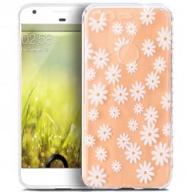 ikasus Coque Google Pixel XL Etui Motif Peinture de fleurs de mandala Transparente Silicone Gel TPU Souple Housse Etui de Pro