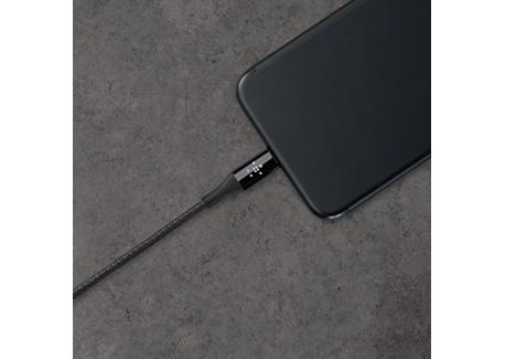 Belkin - Câble Lightning Premium Haute-Résistance (Kevlar) Charge/Synchro pour iPhone, iPad et iPod - 1,2m - Noir (Certifié Appl