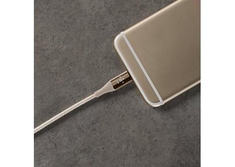 Belkin - Câble Lightning Premium Haute-Résistance (Kevlar) Charge/Synchro pour iPhone, iPad et iPod - 1,2m - Or (Certifié Apple)