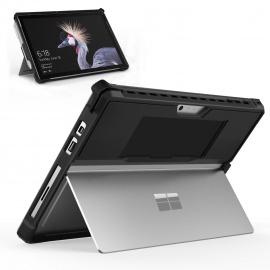MoKo Coque Microsoft Surface Pro 6/Pro LTE/Surface Pro 2017 / Surface Pro 4, Etui de Protection Robuste Tout-en-Un avec Porte