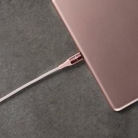 Belkin - Câble Lightning Premium Haute-Résistance (Kevlar) Charge/Synchro pour iPhone, iPad et iPod - 1,2m - Or rose (Certifié A