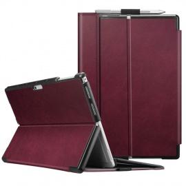 FINTIE Coque pour Microsoft Surface Pro 6/5 / 4 - [Multiple Angle Viewing] Folio Housse en Cuir synthétique avec Fermeture Ma