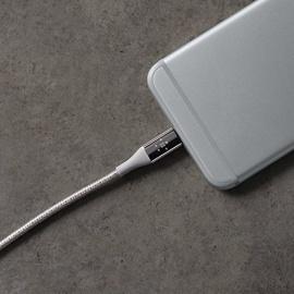 Belkin - Câble Lightning Premium Haute-Résistance (Kevlar) Charge/Synchro pour iPhone, iPad et iPod - 1,2m - Argent (Certifié Ap