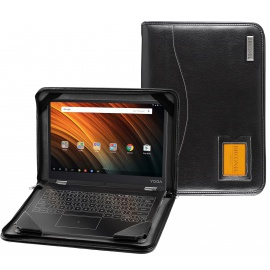 Navitech Acer Series Coque Lenovo Yoga Book A12 Black Vegan Contour
