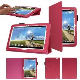 TECHGEAR® Acer Iconia Tab 10  Modèl A3-A20, A3-A21  Housse Folio en Cuir PU avec Support de Positionnement pour Tablette 10.1