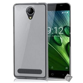 htdmobiles Housse Etui Coque Pochette Silicone Gel Fine pour Acer Liquid Z6 + Film ecran - Blanc Transparent