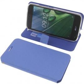 foto-kontor Housse pour Acer Liquid Zest Plus Style Livre Bleu Coque de Protection Portefeuille