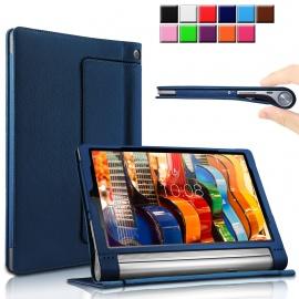 Infiland Étui Housse Compatible ave Yoga Tab, PU Cuir Haute Qualité stand Folio Coque Case Pour Lenovo Yoga Tab 3 10 Pro / Yo