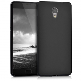kwmobile Coque Lenovo P2 - Coque pour Lenovo P2 - Housse de téléphone en Silicone Noir Mat