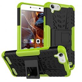 pinlu® Coque pour Lenovo K5 / K5 Plus  5 Pouce  Smartphone Double Couche Rugged 2 en 1 Hybride Armour Case TPU + PC Back Cove