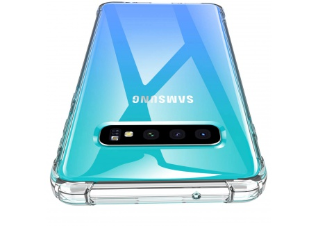 Losvick Coque Galaxy S10 Plus 2019, Housse Liquid Clear Silicone Souple Premium TPU [Angles Renforcés] Protection Antichoc et