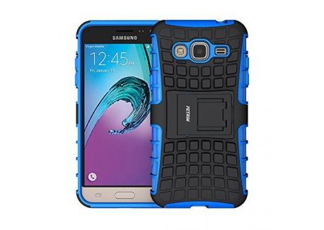 Coque Galaxy J3  2016 , Fetrim Armor Support Protection Étui,anti chocs Bumper Étui Hybride protection Housse Cover pour Sams