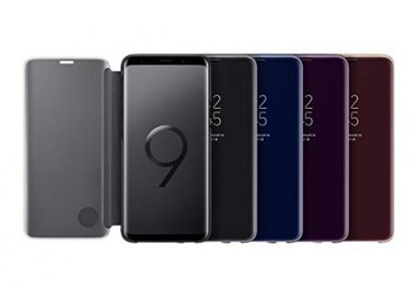 Samsung EF-ZG960CFEGWW Galaxy S9 Etui à rabat Clear View Cover Samsung EF-ZG960CF doré pour Galaxy S9
