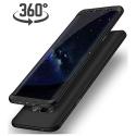 Coque Samsung S8 et Protection décran, Luckydeer [ 360 Degrés ] Noir Case