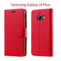 New&Teck Coque Samsung Galaxy J4 Plus Housse Etui Portefeuille Cuir Multifonction, Fermeture Magnétique à Clapet Anti-Choc Ro