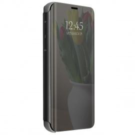 Compatible Coque pour Samsung Galaxy S10/S10 Plus Flip Plastique Silicone Housse Mince Cover [Shock Absorption][Vue Miroir] E