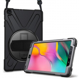 ProCase Étui Antichoc pour Galaxy Tab A 10.1 2019 T510 T515 10.1 Pouces, Coque Housse Robuste à Rotation de 360°avec Béquille