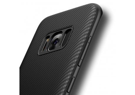 Coque Galaxy S8 Plus, Losvick Silicone Bumper Souple[Anti-Choc Air Cushion]Coque Ultra Fine en Gel Flex TPU [Texture Fibre de