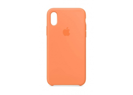 Apple Coque en Silicone  pour iPhone XS  - Papaye