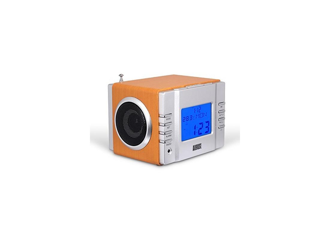august mb300 radio r veil cube lecteur mp3 avec radio fm lecteur de carte port usb et entr e. Black Bedroom Furniture Sets. Home Design Ideas