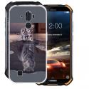 HHUAN Coque pour Doogee S40 Semi-Transparent Cover Souple Silicone Gel Antichoc TPU Tigre et Chat Housse Etui Protection Bump