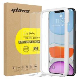 Verre Trempé iPhone 11  [3 Pièces] iPhone 11 XR Protection écran