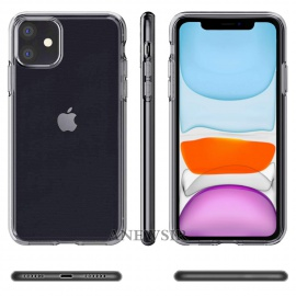 Coque iPhone 11 2019 Transparente + 2 × Verre trempé Protection écran, Souple Silicone