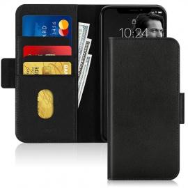 Coque iPhone 11 Véritable Cuir de Vache RFID Etui Portefeuille Fabriqué à la Main