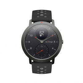 Withings Steel HR Sport Montre connectée hybride multisport Adulte Unisexe, Black, 40mm