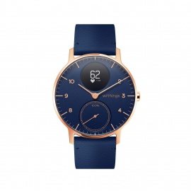 Withings Steel HR Fitnessuhr Adulte Unisexe, 36mm-Rose Gold & Bleu