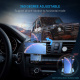 Avolare Chargeur Voiture sans Fil QI Recharge Rapide à Induction Type-C Fermeture Auto 2 en 1 Support 360°Rotation Pince de G