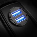 DIVI Chargeur de Voiture, Ultra Compact 2 Ports USB 5V / 4.8A en Alliage dAluminium Chargeur Allume Cigare, Charge Rapide po