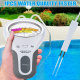 Ohwens Test de ph de leau, Test numérique Portable ph testeur deau Compteur Analyse kit de Test de Piscine de Chlore