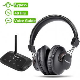 Avantree HT5009 Casque sans-Fil TV Longue Portée avec Transmetteur Bluetooth  Optique RCA AUX , Sortie Audio simultanée sur C